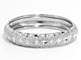 Pre-Owned Rhodium Over 10k White Gold Diamond Cut Band Ring