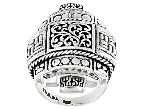 Pre-Owned Sterling Silver Barrel Ring