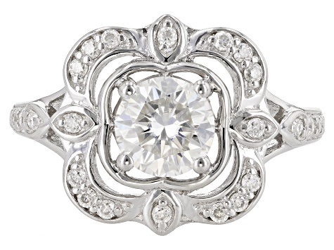 Pre-Owned Moissanite Platineve ring 1.24ctw DEW
