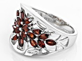 Pre-Owned Red Garnet Sterling Silver Ring 1.70ctw