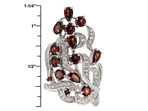 Pre-Owned Red Garnet Sterling Silver Ring 3.23ctw