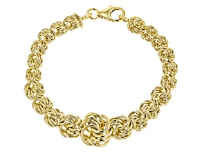 Pre-Owned 18k Yellow Gold Over Bronze Bracelet 8 inch