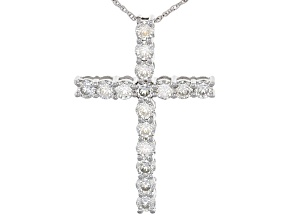 Pre-Owned Moissanite Cross Pendant Platineve™ 2.08ct DEW