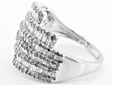 Pre-Owned Rhodium Over Sterling Silver Diamond Ring 1.40ctw