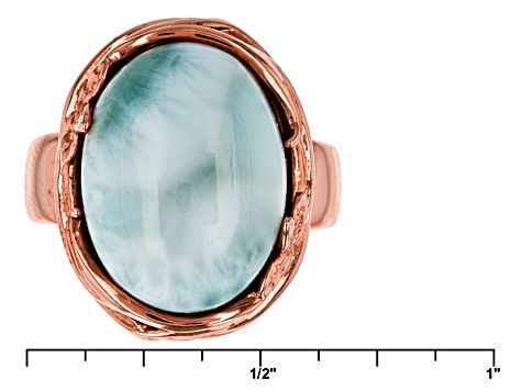 Pre-Owned Copper Blue Larimar Ring