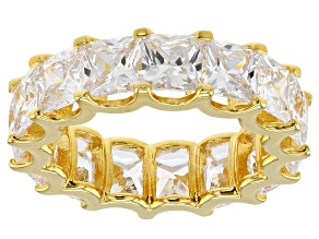 Pre-Owned White Cubic Zirconia 18K Yellow Gold Over Sterling Silver Ring 15.26ctw