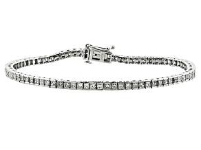 Pre-Owned Diamond 14k White Gold Bracelet 3.00ctw