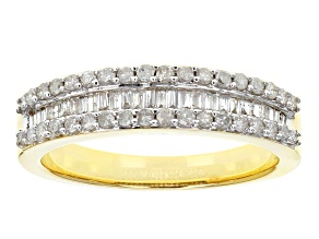 Pre-Owned White Diamond 14k Yellow Gold Ring .50ctw