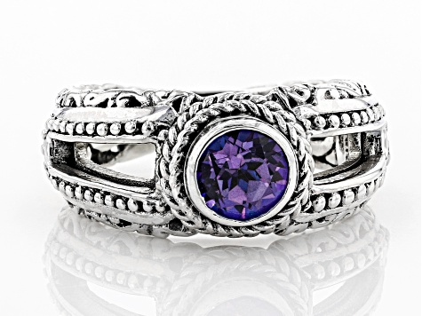 Pre-Owned Talkative™ Mystic Topaz® Silver Ring 1.00ctw