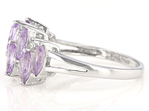 Pre-Owned Purple Amethyst Sterling Silver Ring 1.53ctw