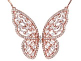 Pre-Owned white cubic zirconia 18k rose gold over sterling silver necklace 4.74ctw