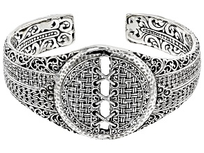 Pre-Owned Sterling Silver Basket Weave Bracelet