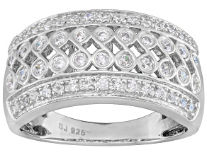 Pre-Owned Cubic Zirconia Silver Ring .80ctw