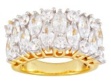 Pre-Owned Cubic Zirconia 18k Yellow Gold Over Silver Ring 7.75ctw