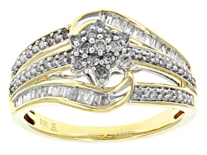 Pre-Owned White Diamond 10k Yellow Gold Ring .50ctw