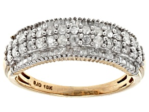 Pre-Owned White Diamond 10k Yellow Gold Ring .85ctw