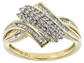 Pre-Owned White Diamond 10k Yellow Gold Ring .33ctw