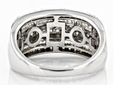 Pre-Owned White Diamond Rhodium Over Sterling Silver Ring 1.05ctw