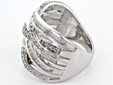 Pre-Owned Diamond Rhodium Over Sterling Silve Ring 1.00ctw