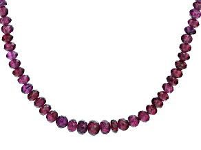 Pre-Owned Purple Garnet 14k Yellow Gold Necklace Approximately 90.00ctw