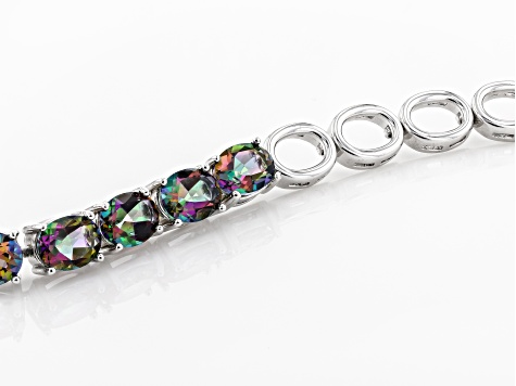 Pre-Owned Green Mystic Topaz® sterling silver bracelet 11.55ctw