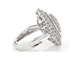 Pre-Owned White Diamond Rhodium over Sterling Silver Ring 2.00ctw