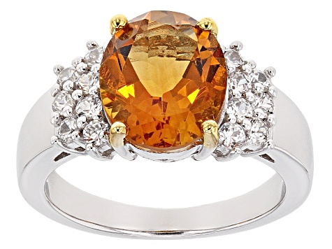 Pre-Owned Yellow Brazilian Citrine Sterling Silver Ring 3.25ctw