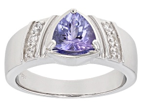 Pre-Owned Blue Tanzanite Sterling Silver Gent's Ring 1.78ctw