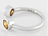 Pre-Owned Yellow Citrine Sterling Silver Ring .91ctw