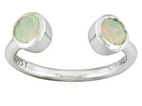 Pre-Owned Multi Color Ethiopian Opal Sterling Silver Ring .45ctw.