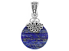 Pre-Owned Blue Lapis Lazuli Sterling Silver Enhancer