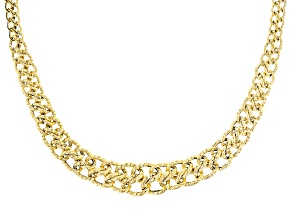 Pre-Owned 14k Yellow Gold Graduated Romanza 18 inch Necklace