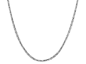 Pre-Owned Sterling Silver Byzantine Necklace