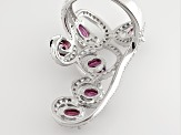 Pre-Owned Purple Rhodolite Sterling Silver Ring 3.27ctw