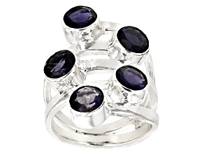 Pre-Owned Blue Iolite Sterling Silver Ring 3.00ctw