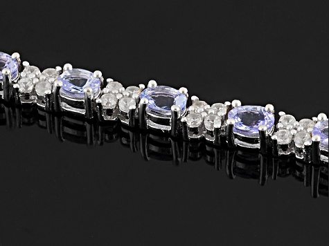 Pre-Owned Blue Tanzanite Sterling Silver Bracelet 5.70ctw