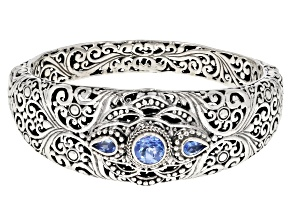 Pre-Owned Royal Bali Blue ™ Topaz Silver Bracelet 2.24ctw