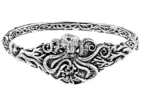 Pre-Owned Sterling Silver Octopus Bangle Bracelet