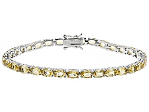 Pre-Owned Citrine Sterling Silver Tennis Bracelet 11.20ctw