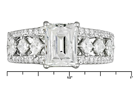 Pre-Owned White Cubic Zirconia Platineve Ring 4.06ctw