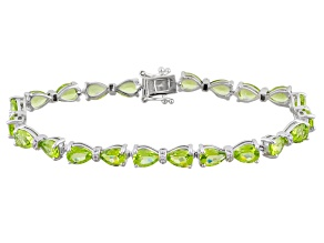 Pre-Owned Green Peridot Sterling Silver Bracelet 16.74ctw