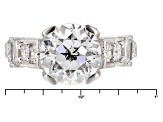 Pre-Owned White Cubic Zirconia Rhodium Over Sterling Silver Ring 8.81ctw