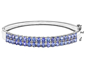 Pre-Owned Blue Tanzanite Sterling Silver Bracelet 5.40ctw