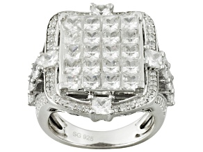 Pre-Owned Cubic Zirconia Silver Ring 10.07ctw