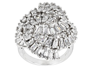 Pre-Owned Cubic Zirconia Silver Ring 5.15ctw (2.85ctw DEW)
