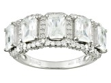 Pre-Owned Cubic Zirconia Silver Ring 7.21ctw