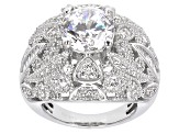Pre-Owned Cubic Zirconia Sterling Silver Ring 8.38ctw