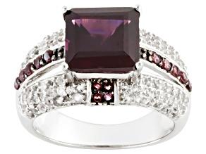 Pre-Owned Purple Rhodolite Sterling Silver Ring 3.35ctw