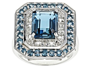 Pre-Owned London Blue Topaz Sterling Silver Ring 4.87ctw