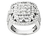 Pre-Owned Cubic Zirconia Silver Ring 4.19ctw (2.48ctw DEW)